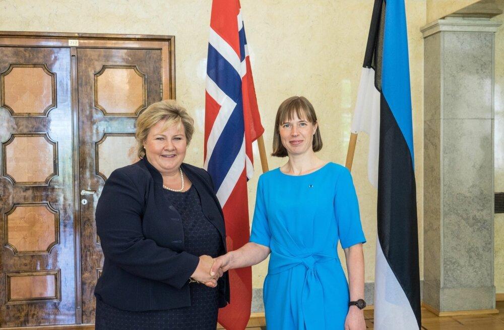 FOTO: Riigipea kohtus Norra Kuningriigi peaministri Erna Solbergiga