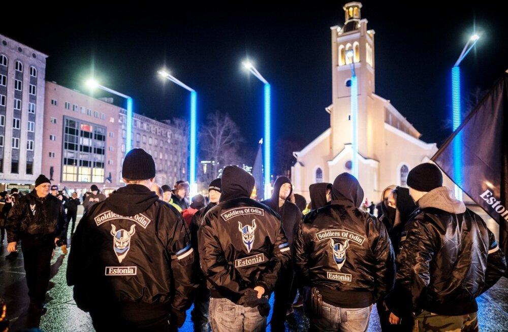Факельное шествие EKRE вызвало интерес зарубежной прессы, в том числе российской