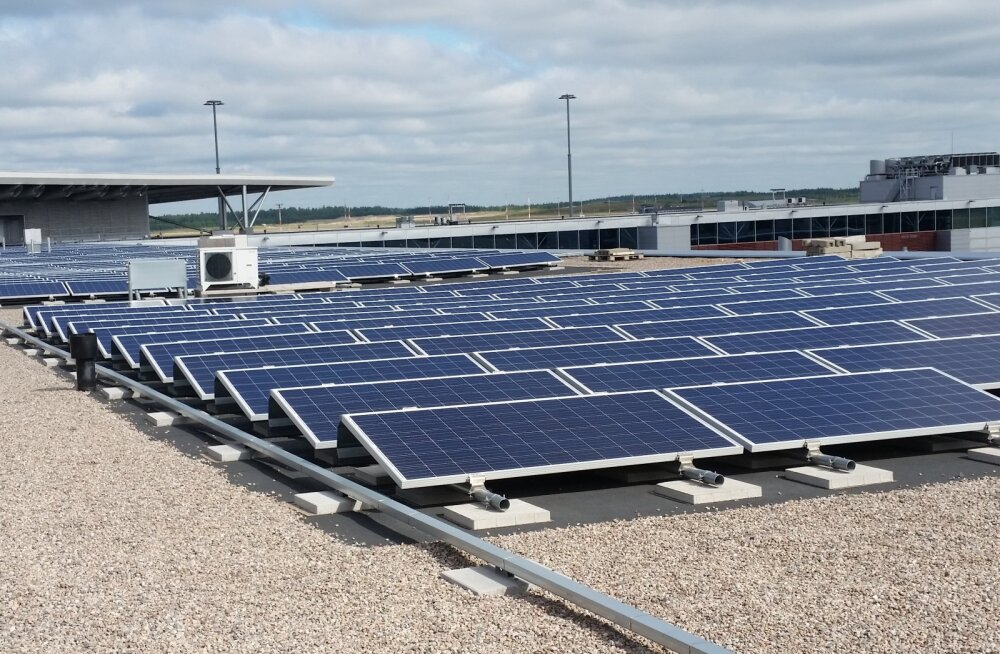 Helsingi lennujaam pürgib Soome kümne võimsaima päikeseelektrijaama hulka