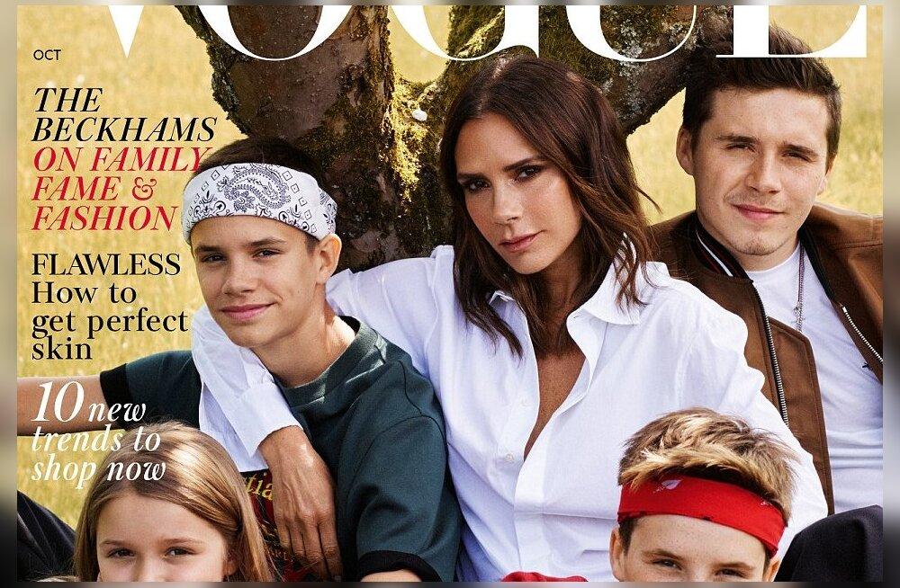 Kas lahutus on ikkagi tulemas? Vogue'i kaanel poseerib Beckhamite perekond ilma Davidita