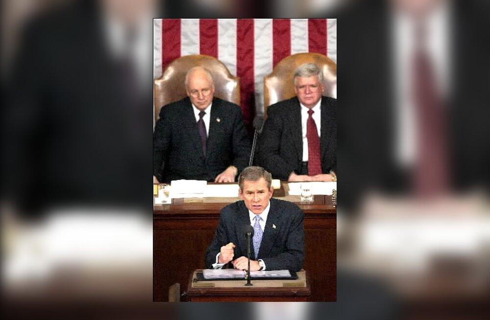 George W Bush kongressi ees kõnet pidamas