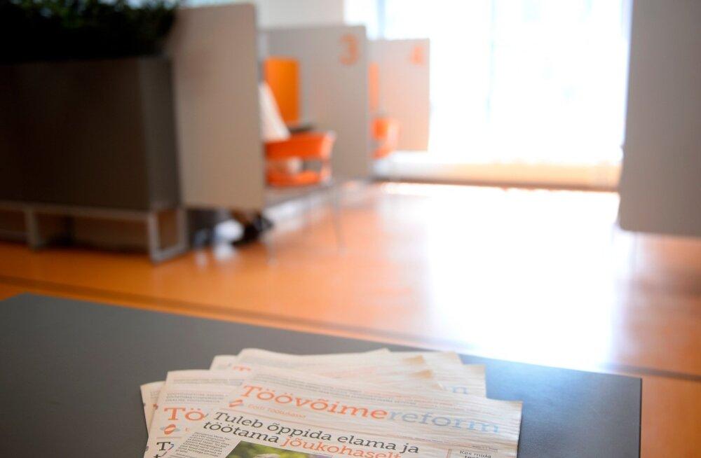 Töövõime hindamise avaldust saab esitada kõigis töötukassa esindustes.