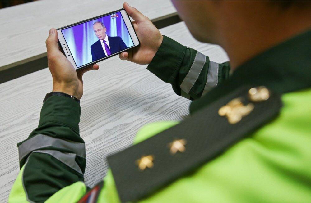 Venemaa presidendi Vladimir Putini kõne nutitelefoni vahendusel.