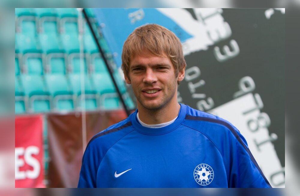 Eesti jalgpallikoondise treening Sloveeniaga mängu eel