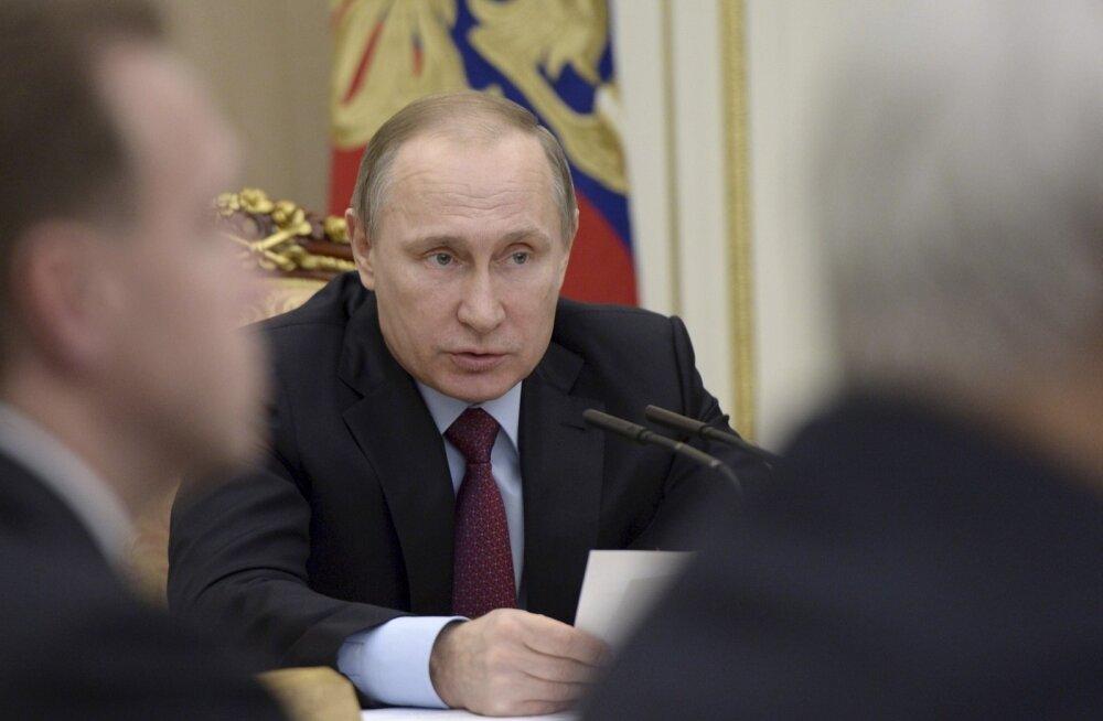 Venemaa president Vladimir Putin eile Kremlis erastamisnõupidamisel.