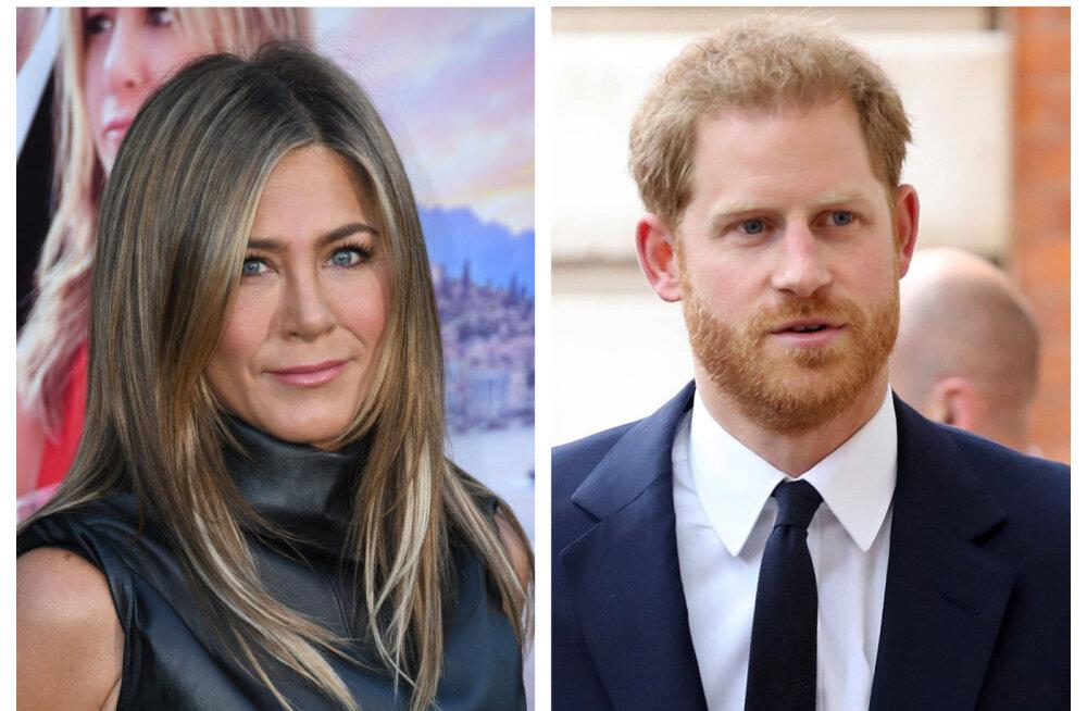 Vanemad naised tõmbavad? Värske elulooraamat avaldab prints Harry ja Jennifer Anistoni salajase suhtluse