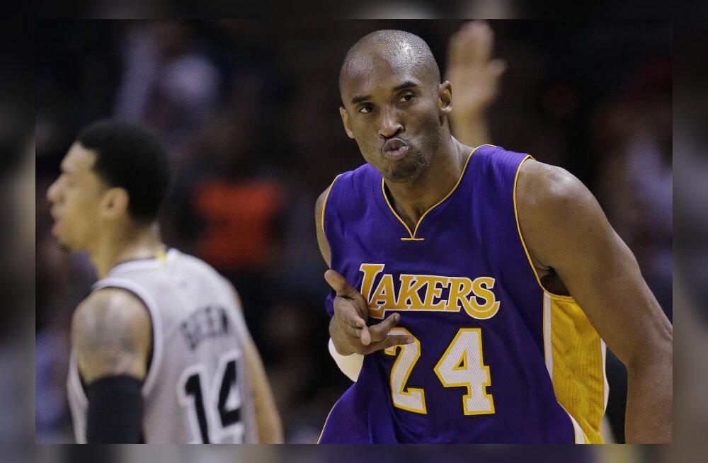 VIDEO: Bryant veel Jordanit kinni ei püüdnud, Lakers võitis lisaajal Spursi