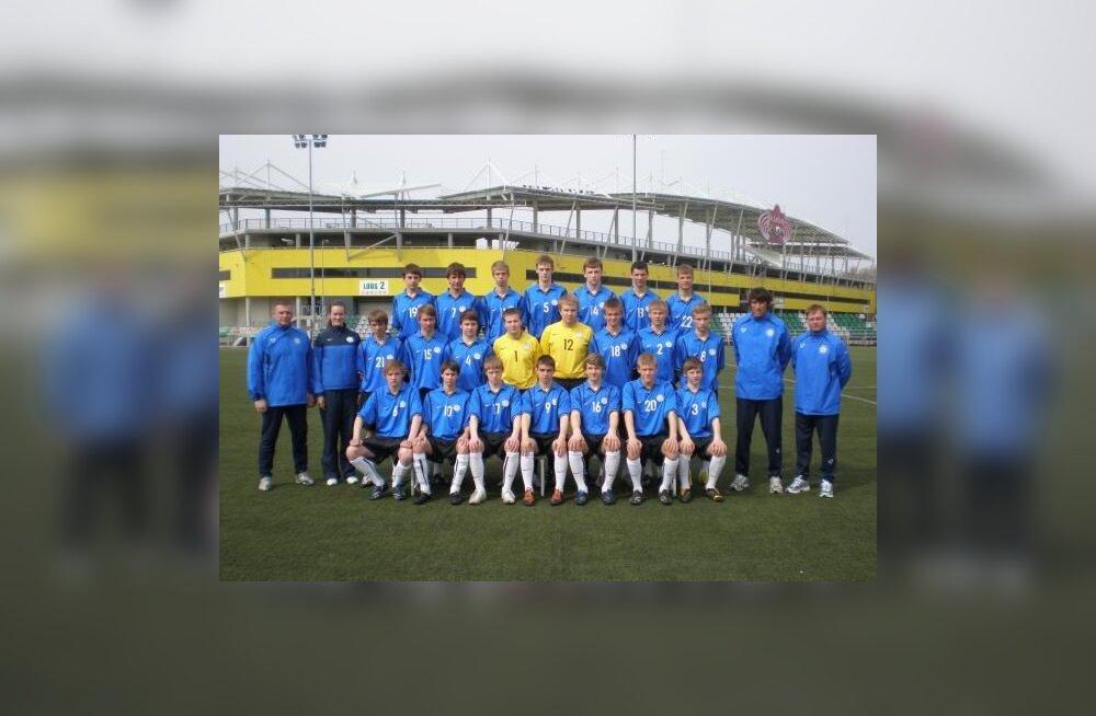 Eesti U-17 jalgpallikoondis viigistas Austriaga