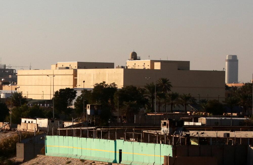 USA saatkonda Bagdadis tabas kolm raketti