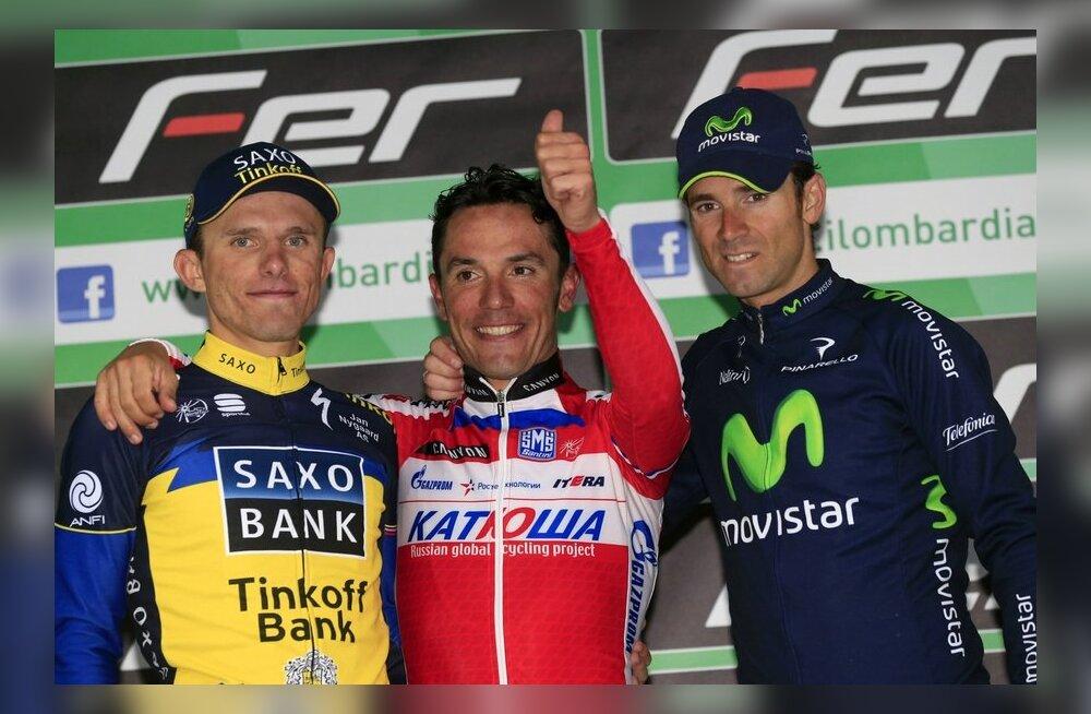 Giro di Lombardia 2013 esikolmik, keskel Rodriguez