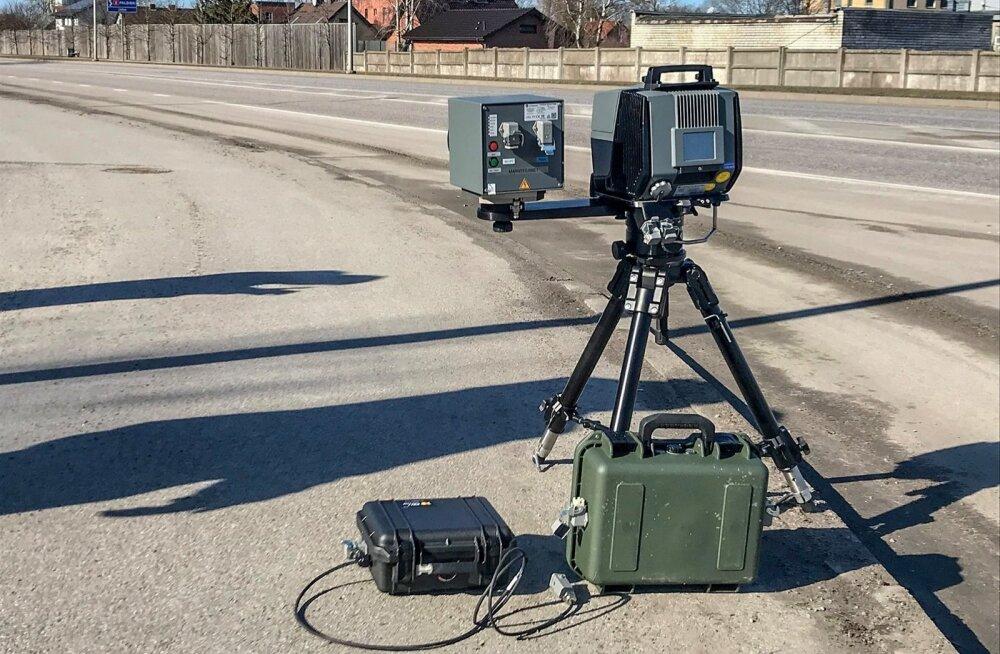 Mobiilsete kiiruskaamerate testimine