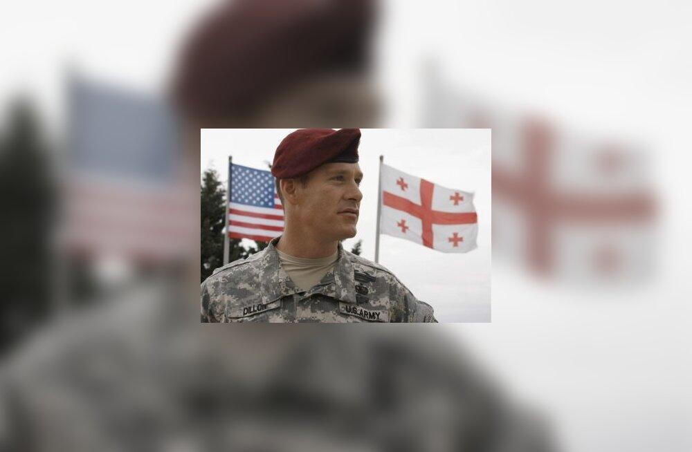 sõdur, armee, gruusia, usa, kaukaasia, sõda, õppus, lipp