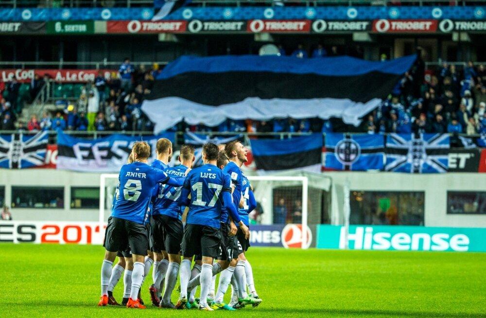 Eesti jalgpallikoondis koduväljakul