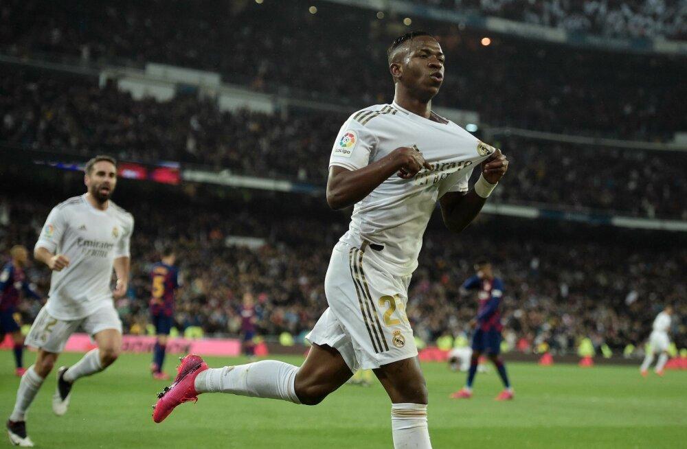Vinicius Junior vedas Madridi Reali El Clasicos võidule.