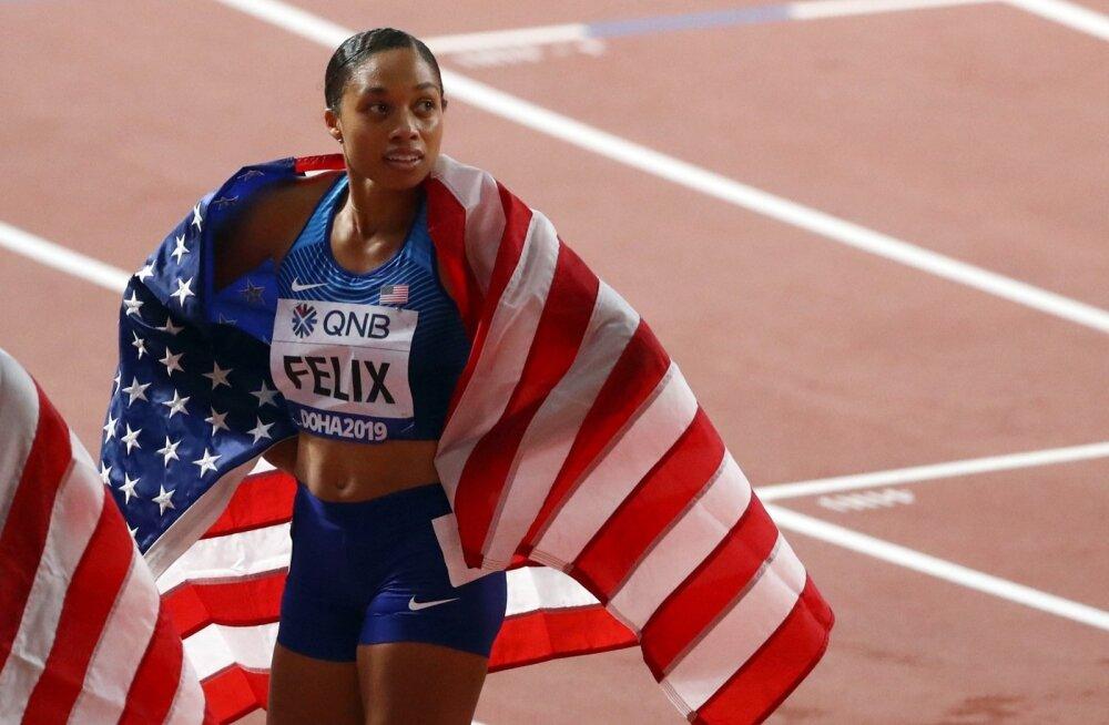 Allyson Felix on nüüd võitnud 12 MM-kulda.