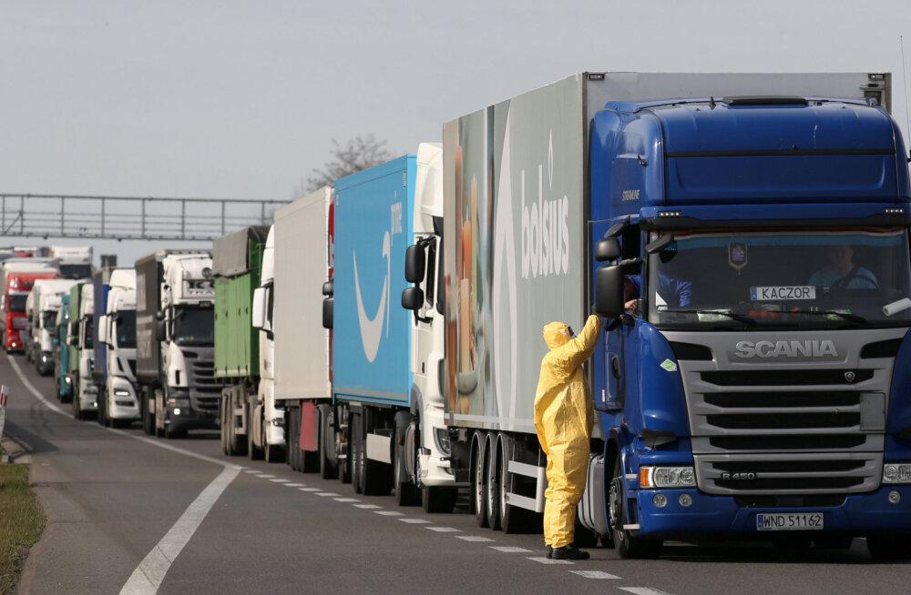 Veokid Poola-Saksamaa piiril
