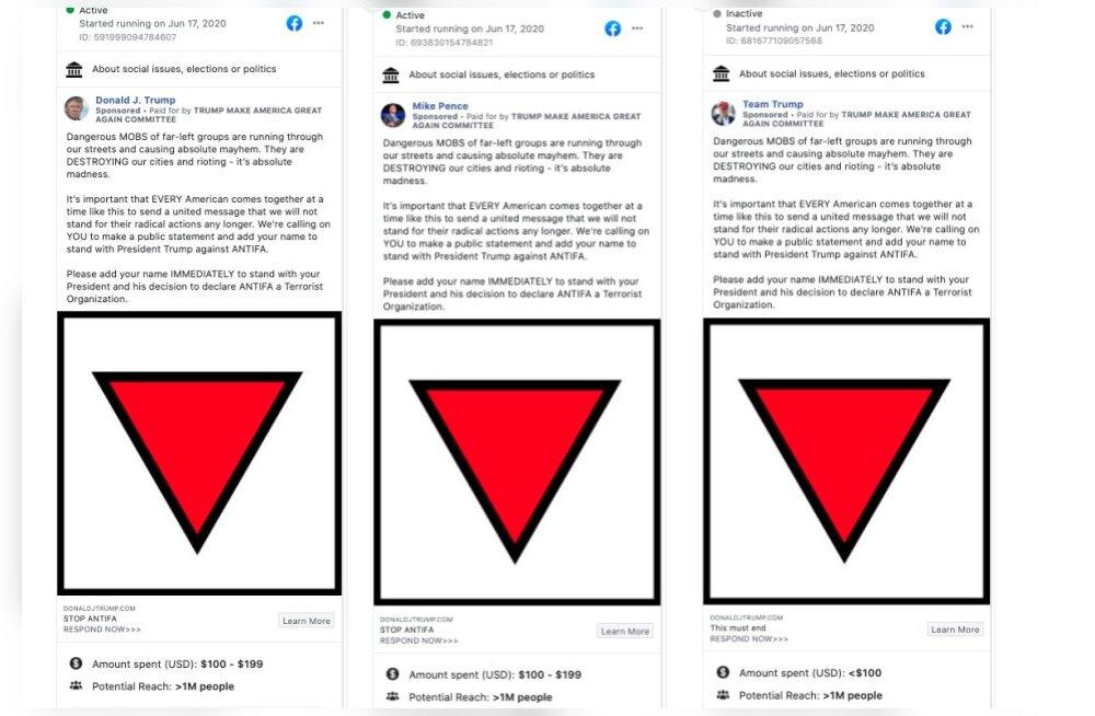 Trump kasutas kampaanias natsisümboolikat ja see eemaldati Facebookist