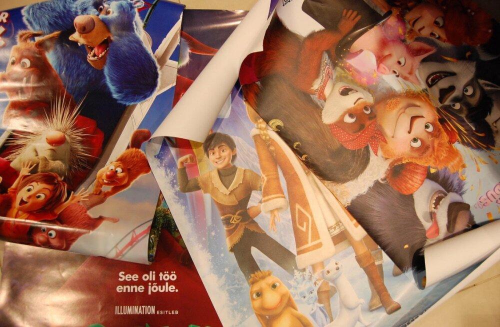 Forum Cinemas jagab Viljandis õpikuümbristeks filmiplakateid