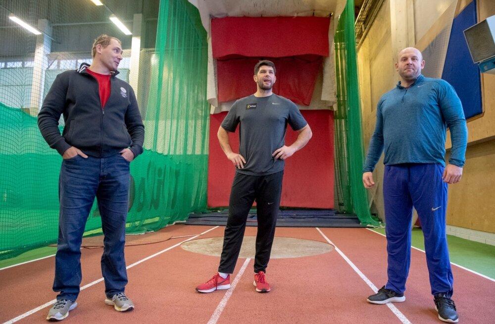 Piotr Malachowski ja Robert Urbaneki näidistreening Gerd Kanteri juhendamisel.
