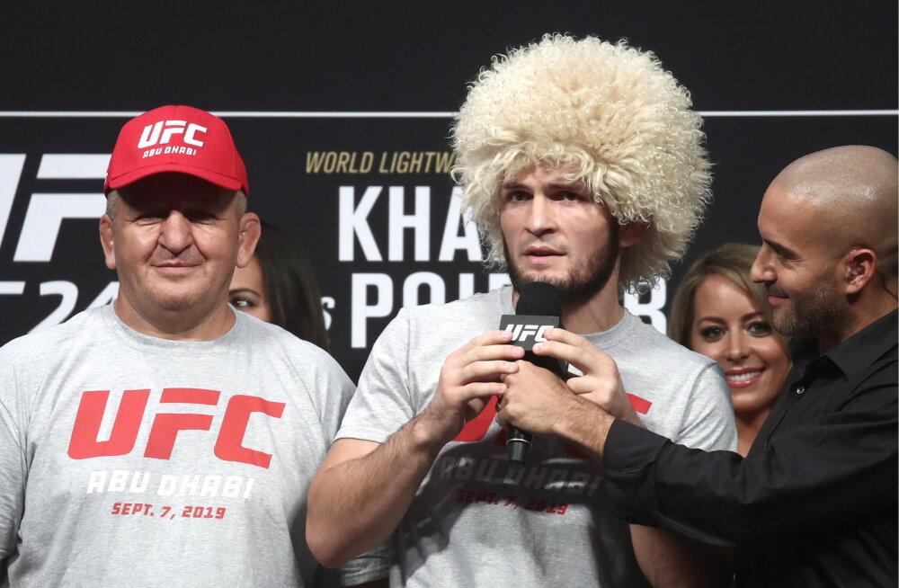 UFC tähe Nurmagomedovi isa viidi südameprobleemide tõttu erilennuga haiglasse