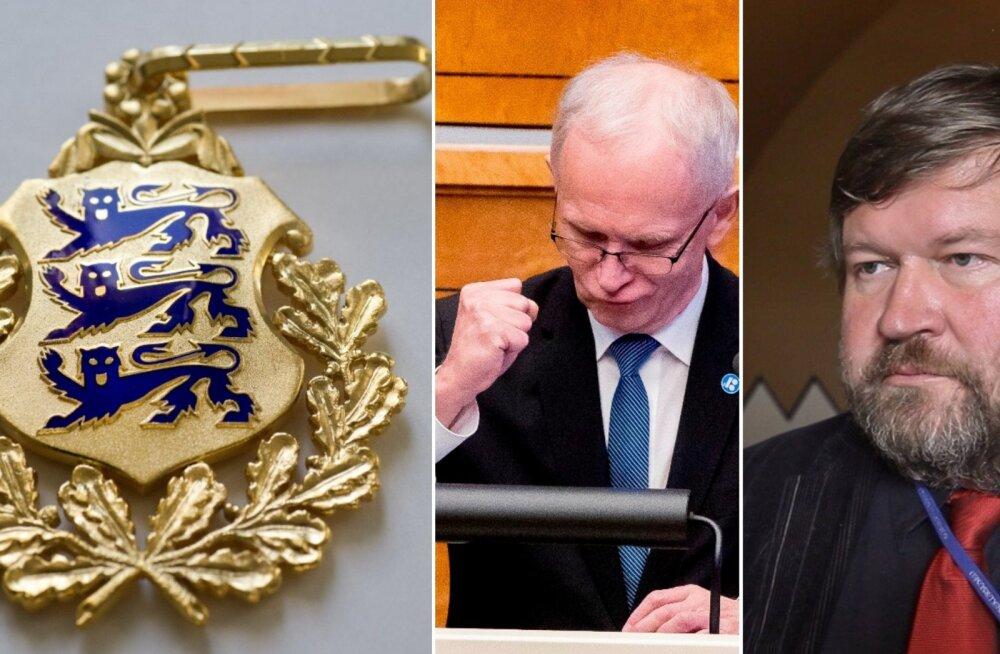 Kõrgeima aumärgi saavad presidendilt Eiki Nestor ja Mart Nutt