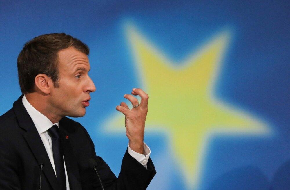 Prantsuse president Emmanuel Macron rääkis eile Euroopa reformimisest.