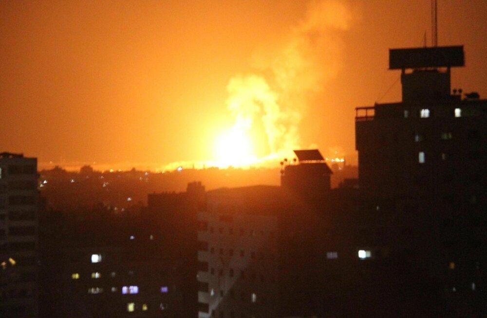 Iisrael vastas Hamasi rakettidele ja miinidele rünnakulainega Gazas
