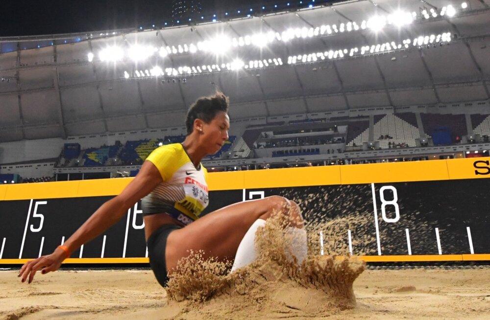 Malika Mihambo pakkus Dohas pikki õhulende.