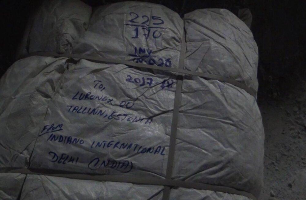 ВИДЕО: В Ивангороде в двух вагонах обнаружили контрабандные товары на 300 000 евро