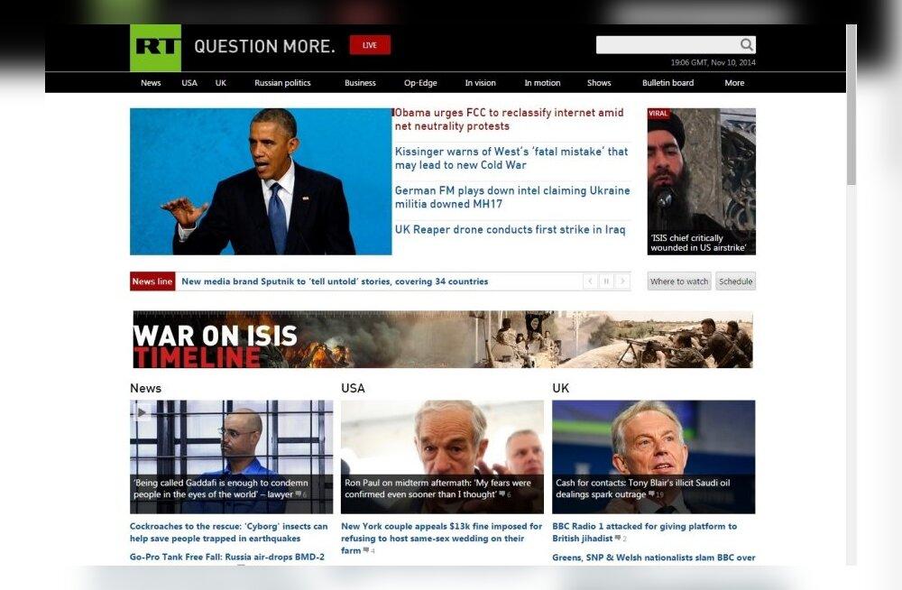 Välismaailmale mõeldud propagandakanal Russia Today