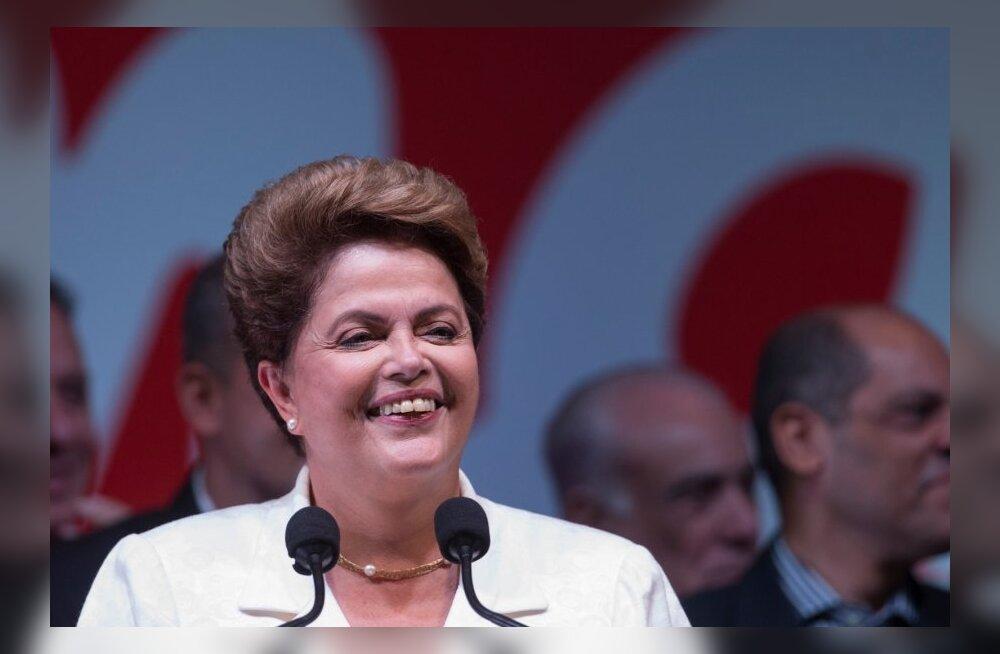 Brasiilia presidendivalimised võitis senine riigipea Dilma Rousseff