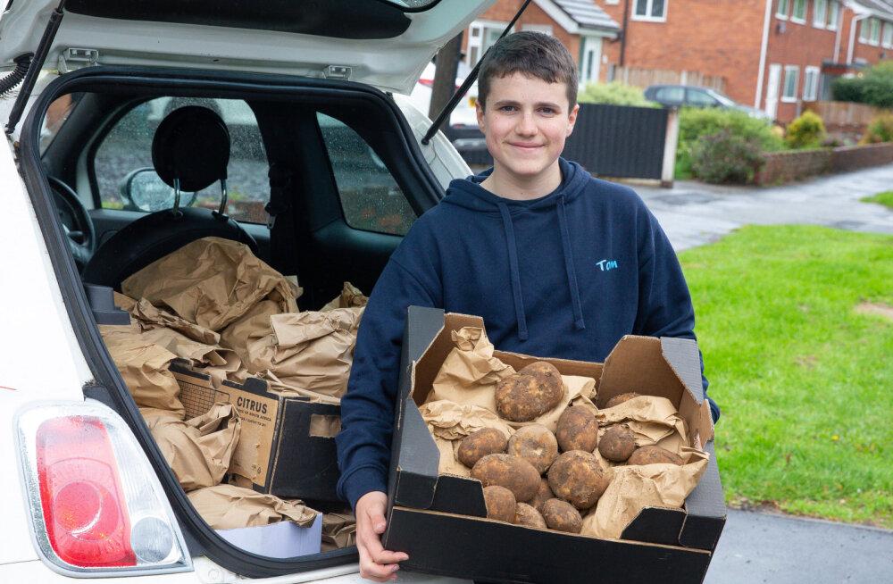 Школьник заработал больше 1500 евро на доставке картофеля во время карантина