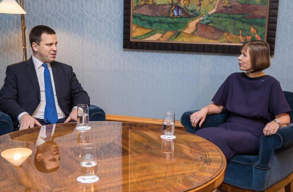 Jüri Ratas ja president Kersti Kaljulaid