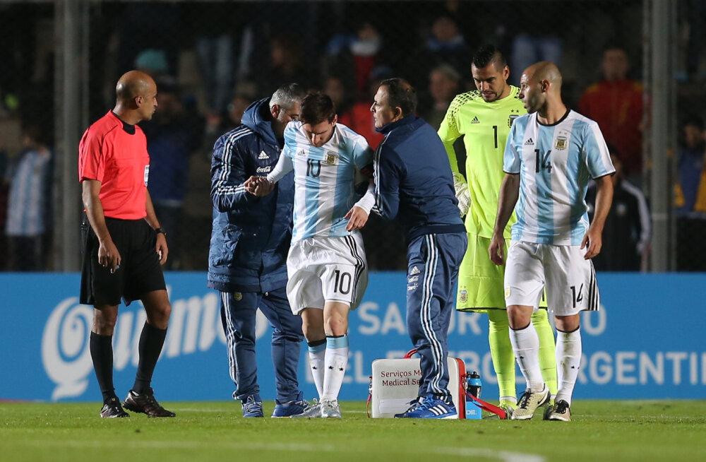 Lionel Messi sai Copa America eel sõprusmängus vigastada
