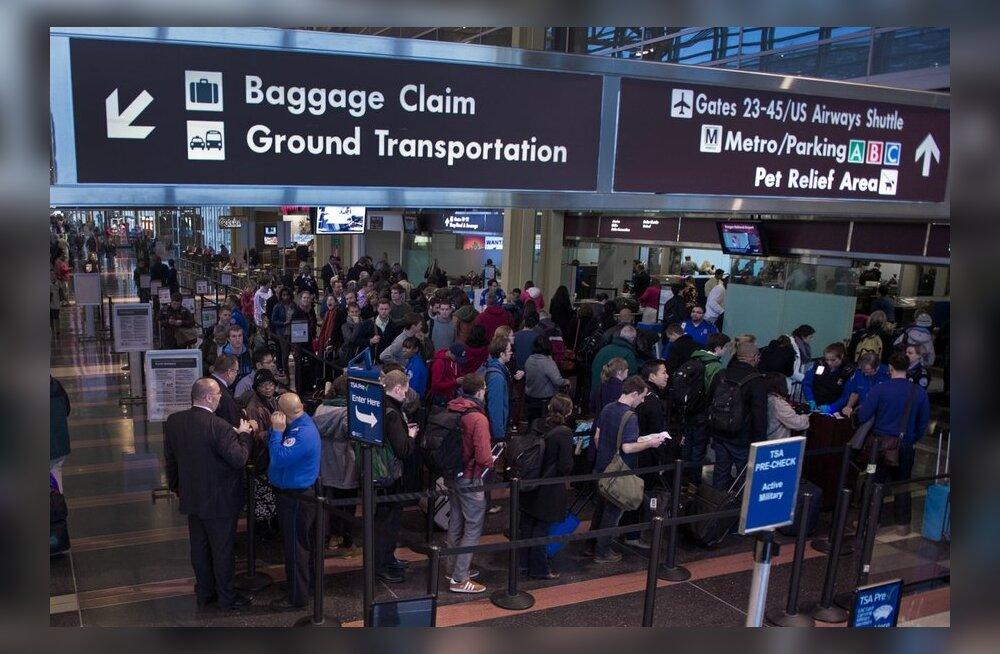 USA-s on pakase tõttu ära jäetud tuhandeid lende