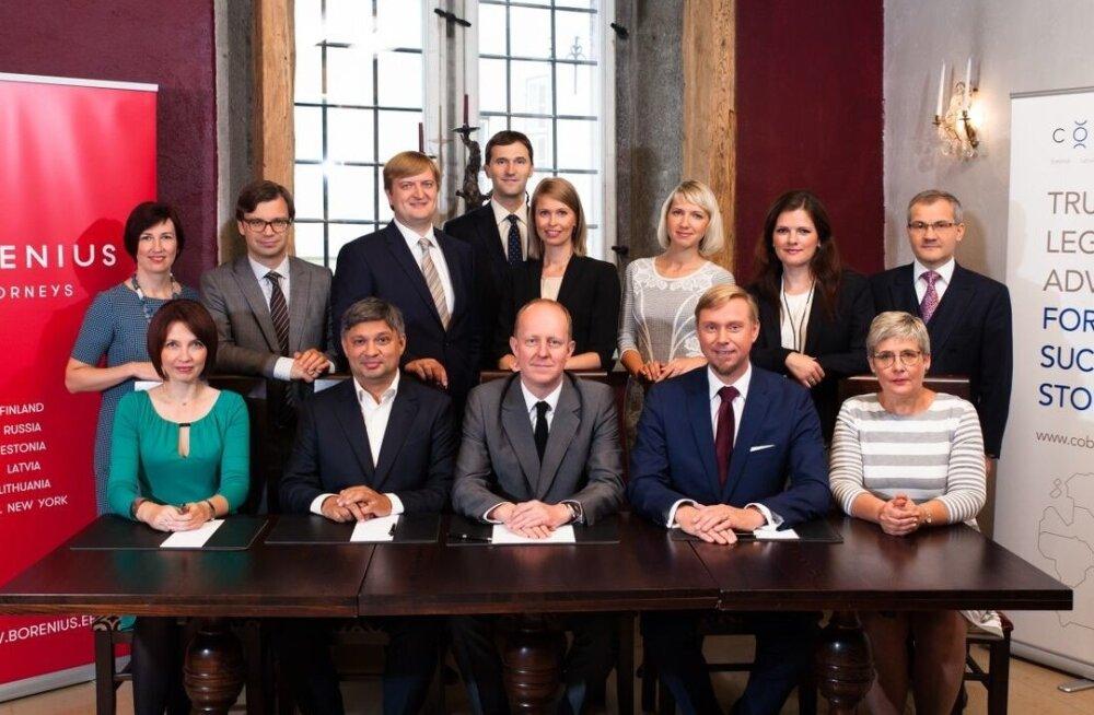 Advokaadibüroo Borenius ja Cobalt partnerid 2015. aasta sügisel ühinemisest teada andes.