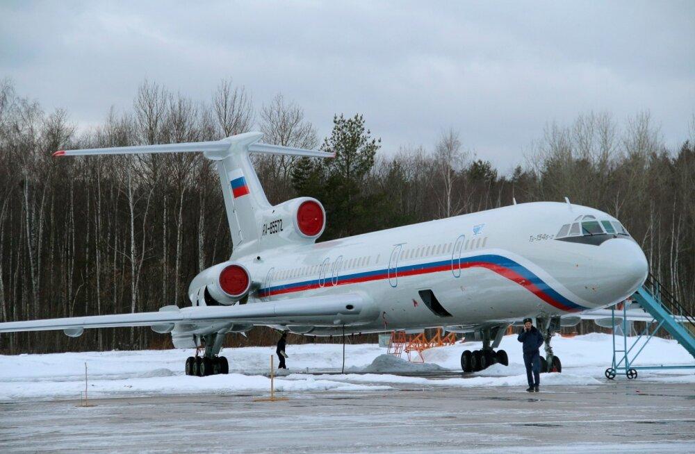 Interfax: Venemaal peatati lennud katastroofi sattunud lennukitüübiga Tu-154B-2