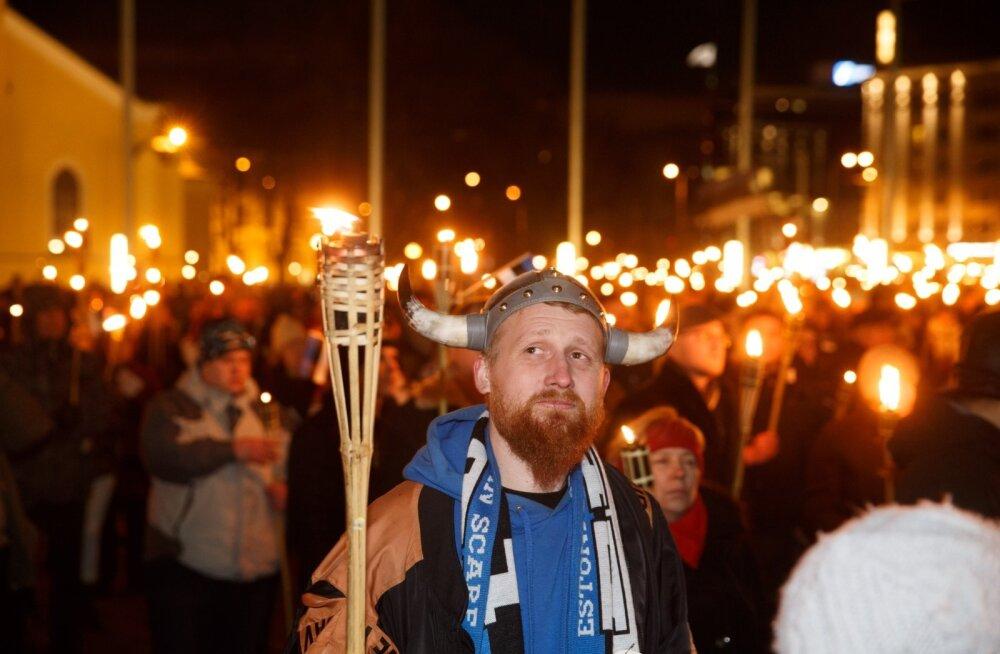 """Факельное шествие """"Синего пробуждения"""""""