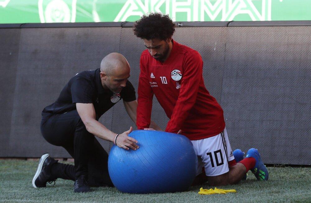 Mohamed Salah tegi Egiptusega esimese trenni kaasa