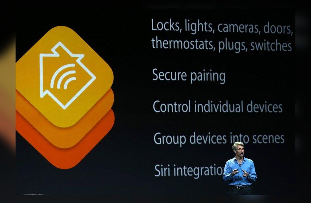 Apple'i asepresident Craig Federighi tutvustab nutikodu-liidest HomeKit