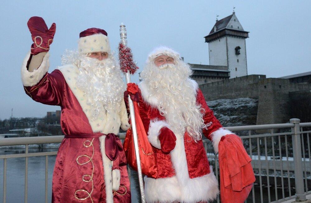Jõuluvana ja Ded Moroz kohtumine Narvas