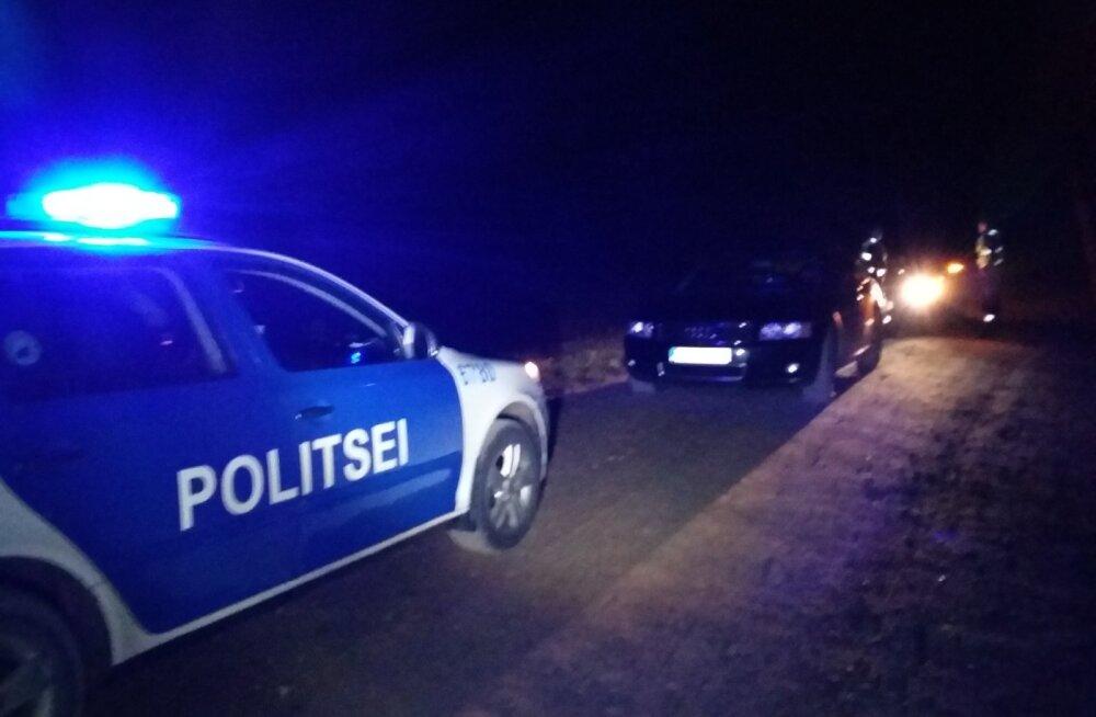Põlvamaal püüdis noormees politsei eest kihutades põgeneda