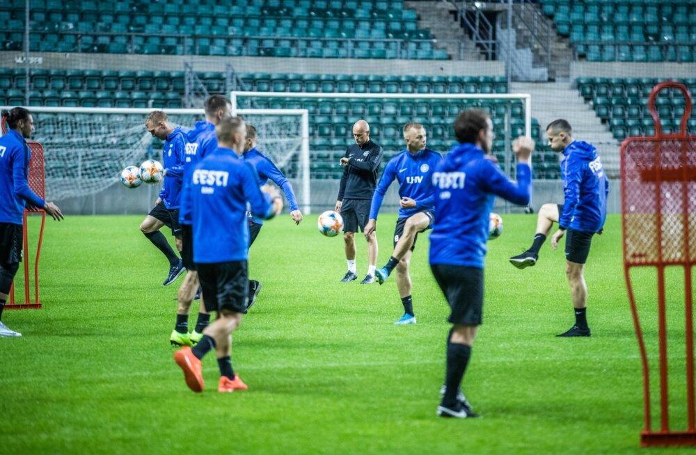 Eesti jalgpallikoondise treening 02.09.19