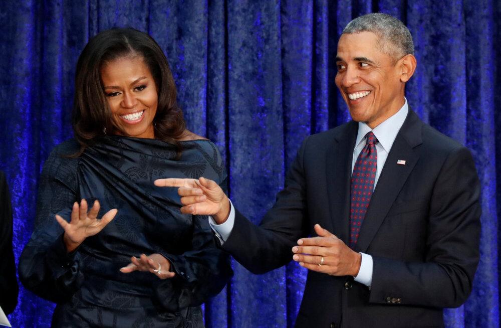 KLÕPS | Tütred on kui imekaunid supermodelllid: Obamade perepilt võtab suisa hingetuks