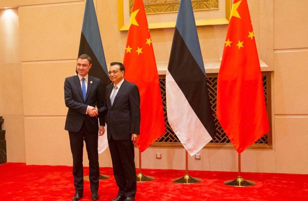 Peaminister Taavi Rõivas kohtus täna Hiina Rahvavabariigi peaministri Li Keqiangiga