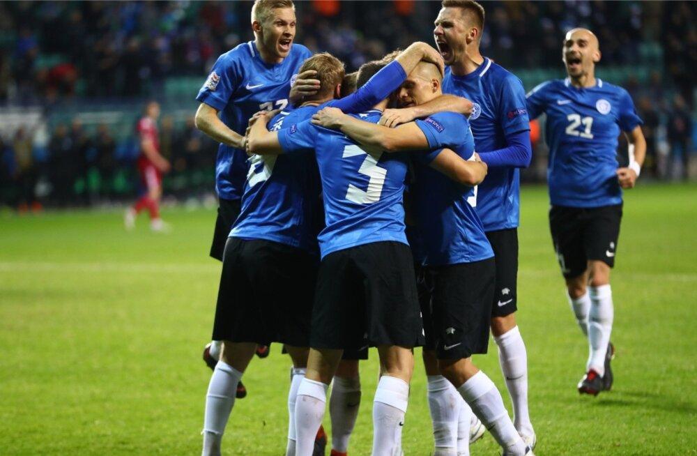Eesti jalgpallikoondis sai esmaspäeva õhtul tähistada kolme väravat.