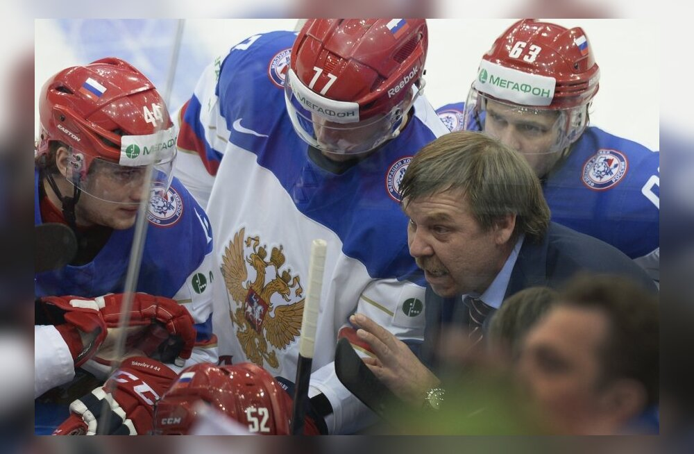 Олег Знарок и сборная России по хоккею