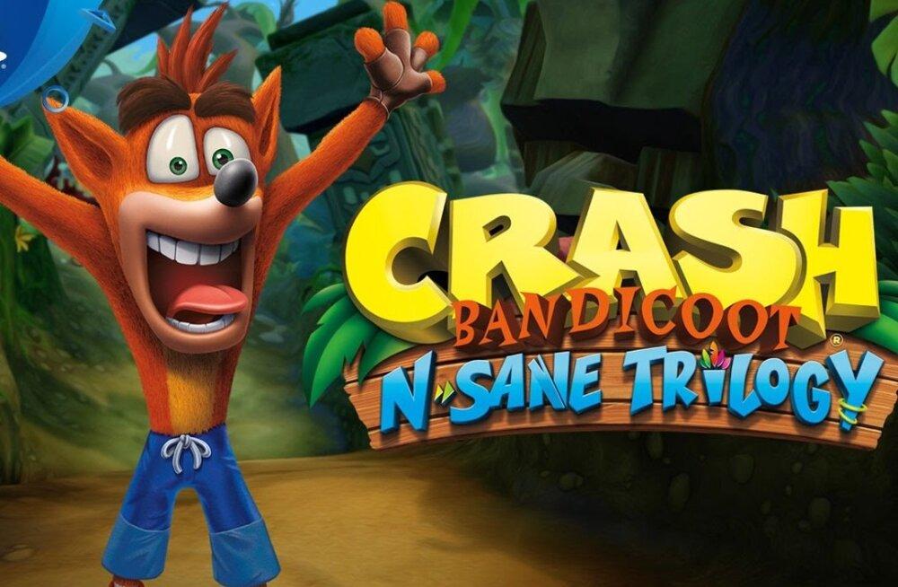 M Kuubis arvustab videomängu: Crash Bandicoot N.Sane Trilogy (PS4) – ja sina arvasid, et Dark Souls on raske mäng...