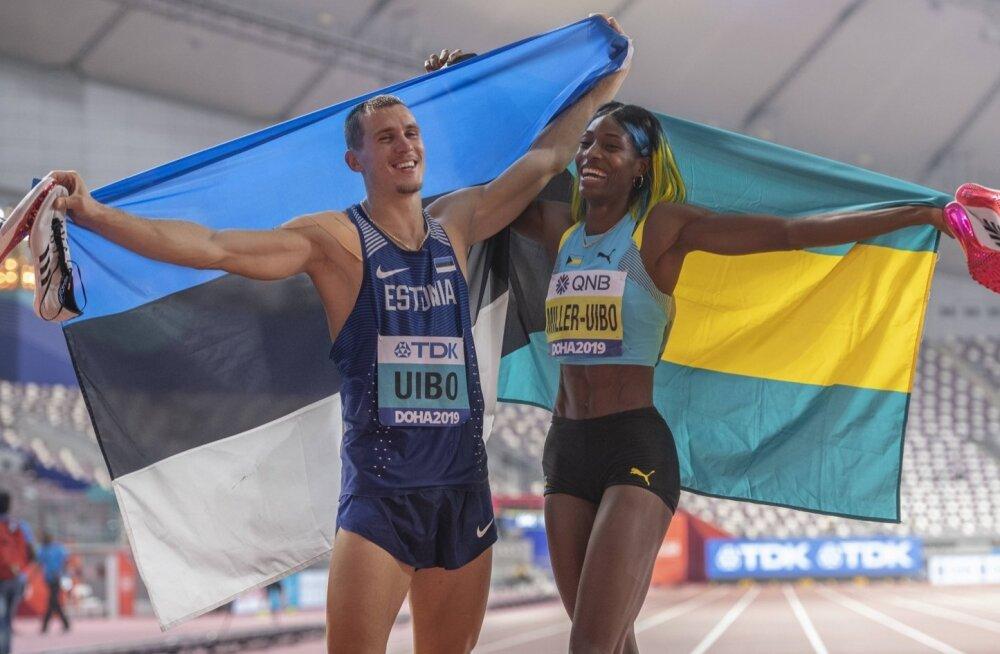 Maicel Uibo ja Shaunae Miller-Uibo. Tokyos tahaks naine võita kaks kuldset medalit.