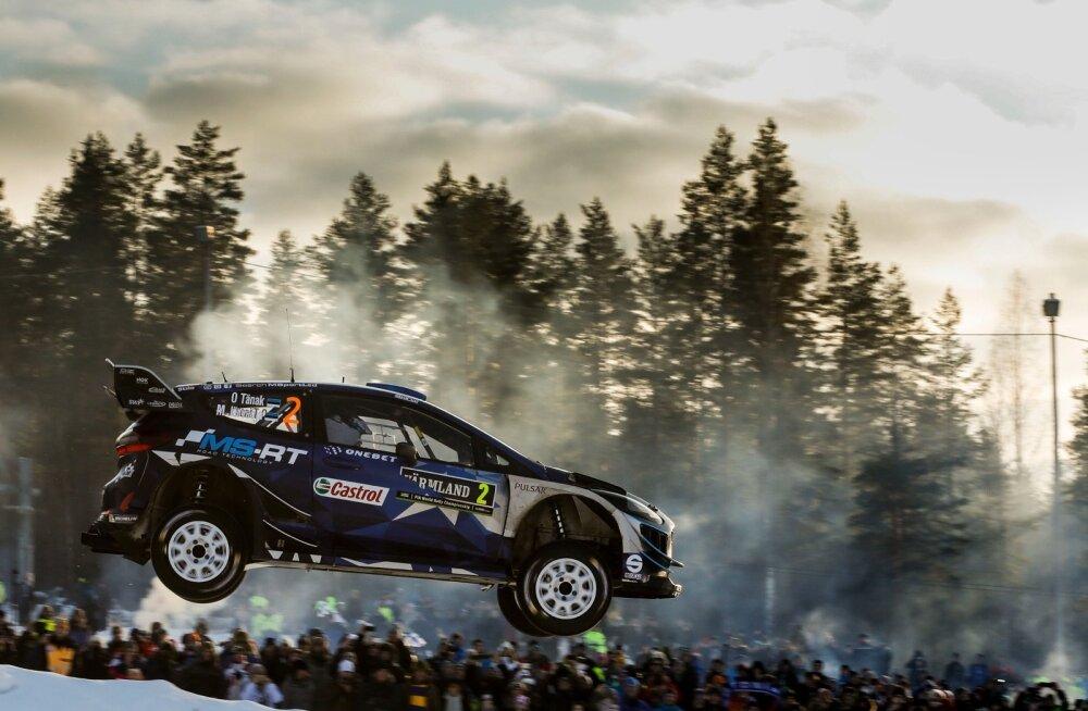 Ott Tänak ja Martin Järveoja olid Rootsis väga kiired, eriti esimesel kiiruskatsel.